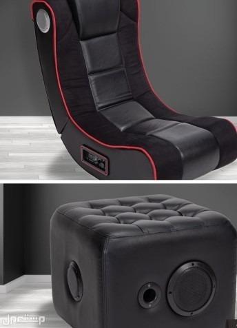 كرسي العاب الكترونية مع مكبر صوت (مستعمل)