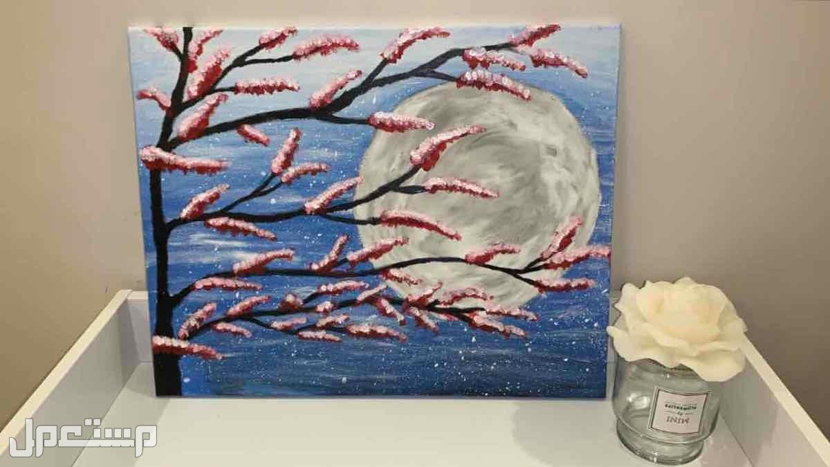للبيع لوحه فنيه مرسومه بالوان الاكريليك