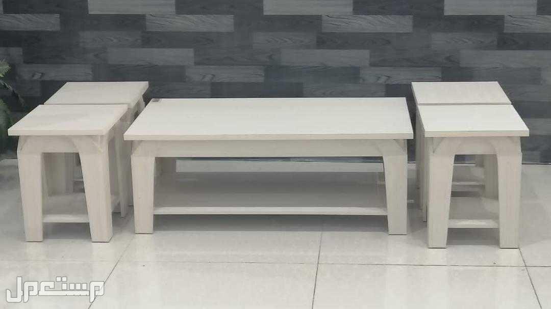 طاولات 5 قطع خشب جديد بالكرتون