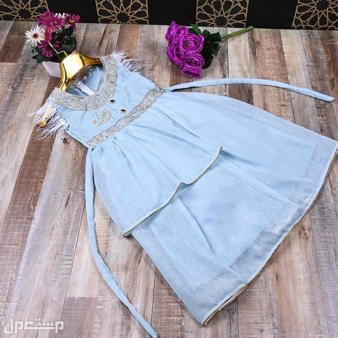 فستان بناتي انيق قوتشي تصميم الاسم حسب الطلب