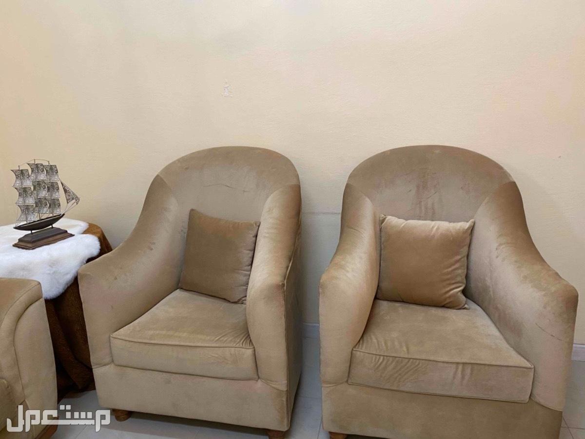 مجلس كامل كنب وطاولة وستائر