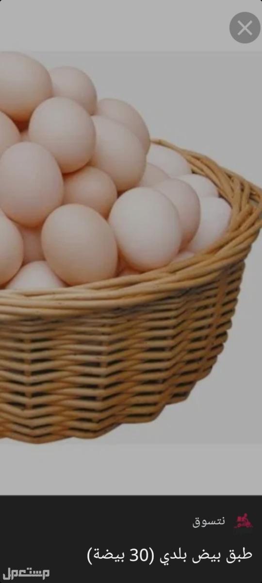 بيض بلدي طازج