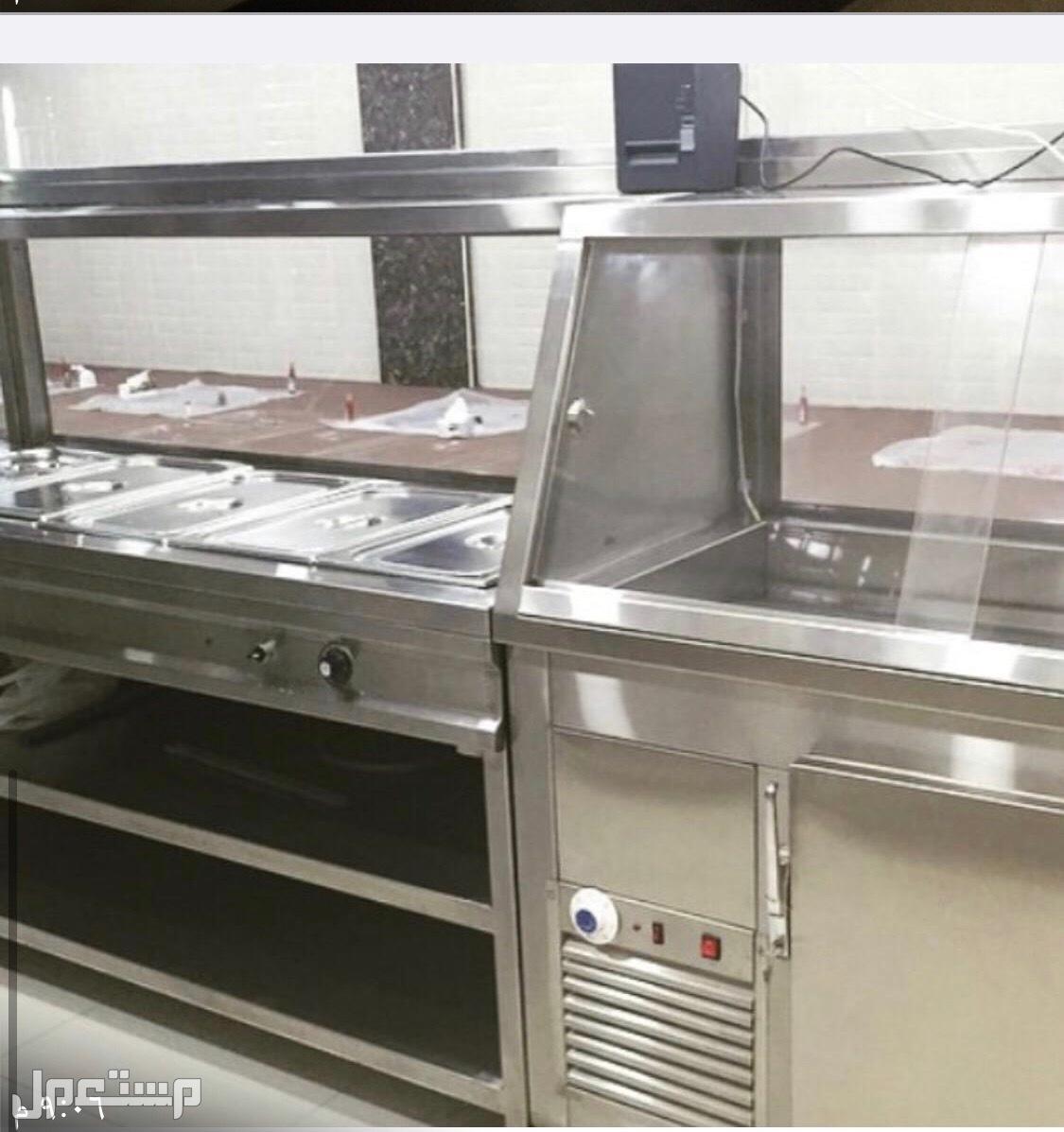 معدات مطعم نظيفه جداً سخان بالمري للرز والشوربات