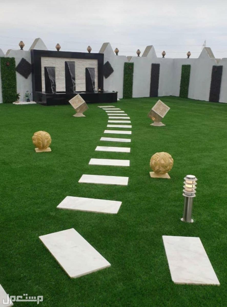 تصميم وتنسيق الحدائق والعشب الصناعى