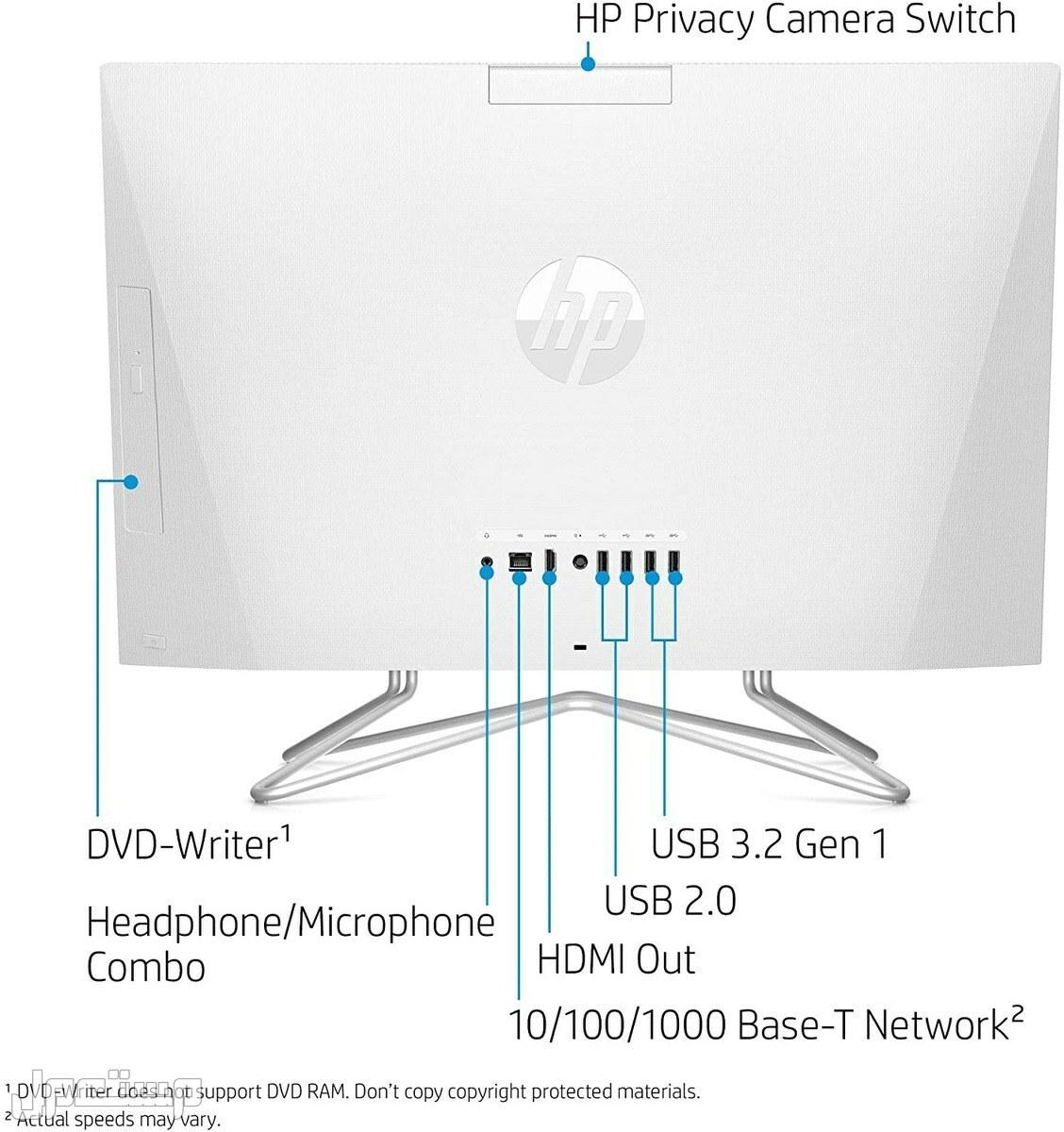 كمبيوتر مكتبي واحد ، معالج AMD Athlon Silver 3050U ، 8 جيجا بايت رام ، 256