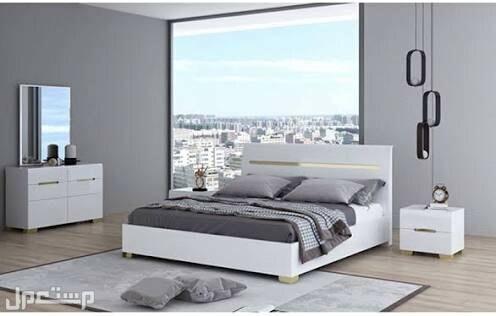 هوم بوكس طقم غرفة نوم آنديس بمقاس كينج من 5 قطع أبيض 186x220سم