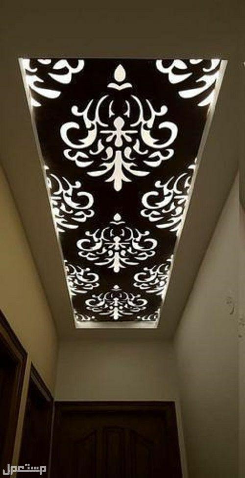ديكورات سقف خشبيه