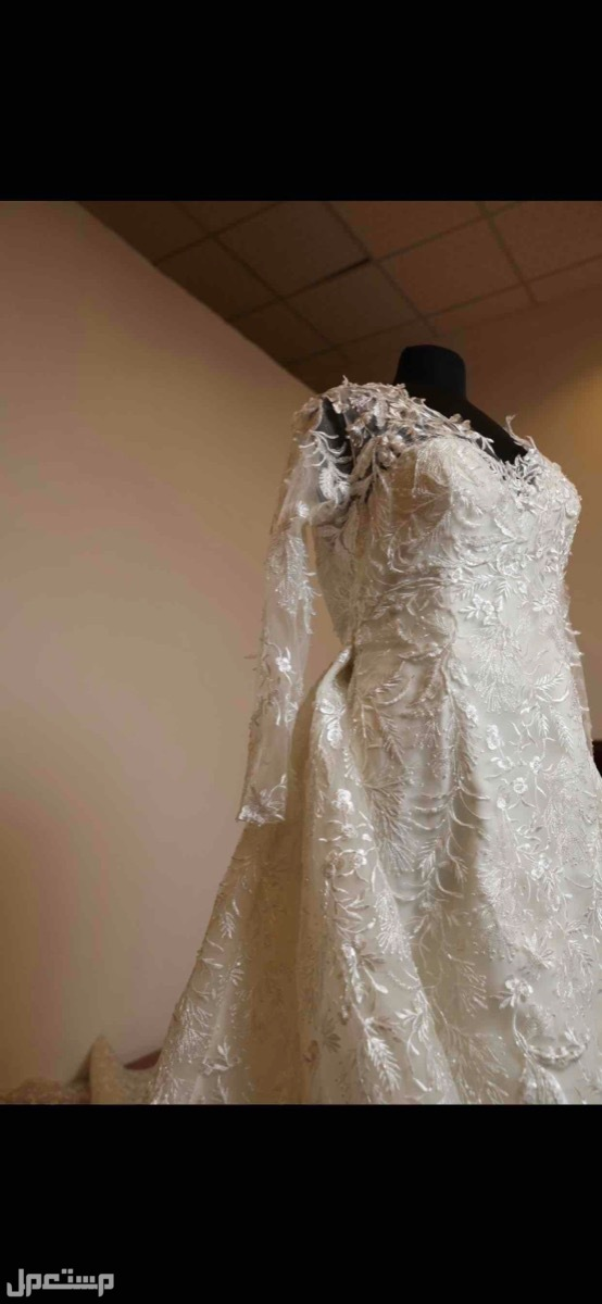 فستان زفاف تصميم خاص مميز