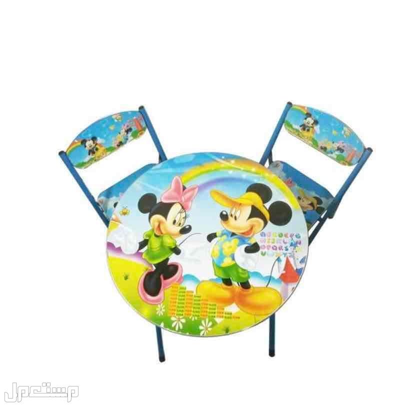 طاولة اطفال مستديرة مع 2 كرسي