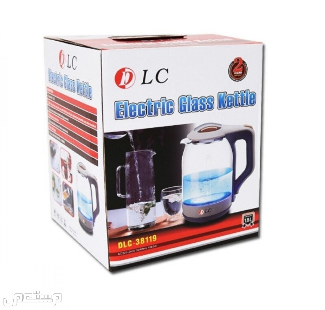 غلاية ماء كهربائية زجاج 1.8 لتر من DLC