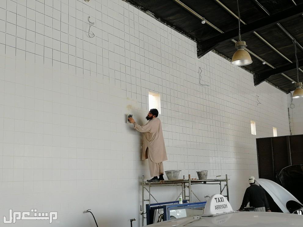 تكسير وتركيب جدار بلاط سراميك حمامات مصابيح