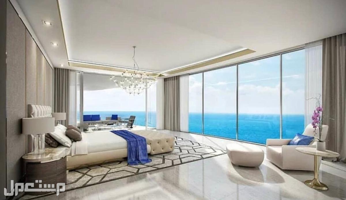 تملك البحر في منتجع المهرة الفندقي مع عوائد استثمارية مضمونة بالعقد 8% اطلالة غرف النوم بالاجنحة الفندقية على البحر
