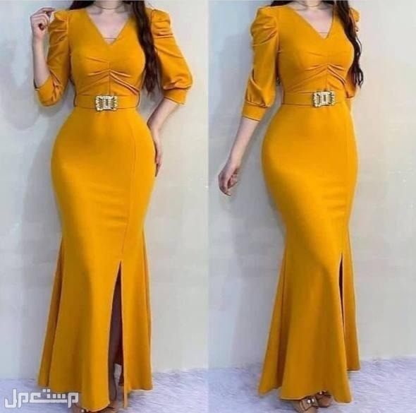 فستان طويل فخم