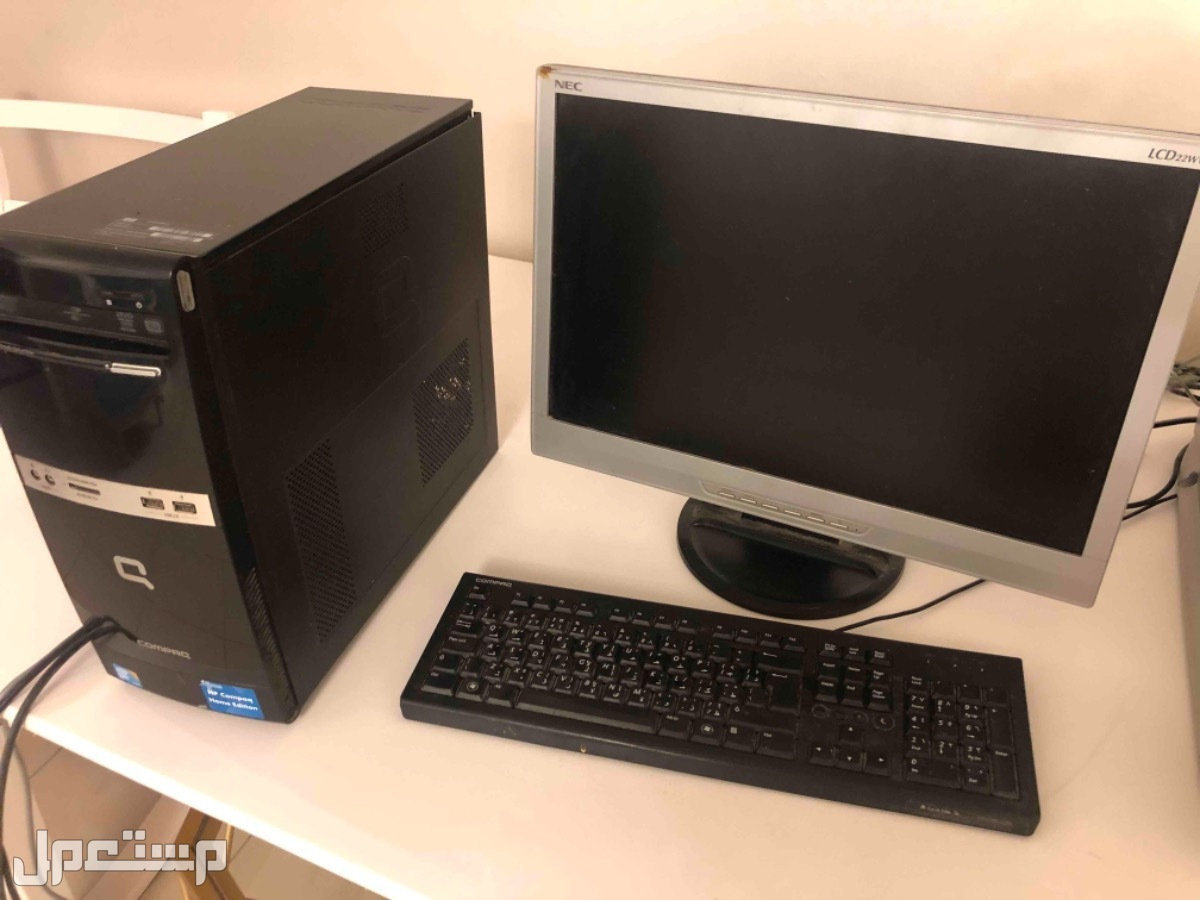 كمبيوتر مع طابعه نظيف للبيع