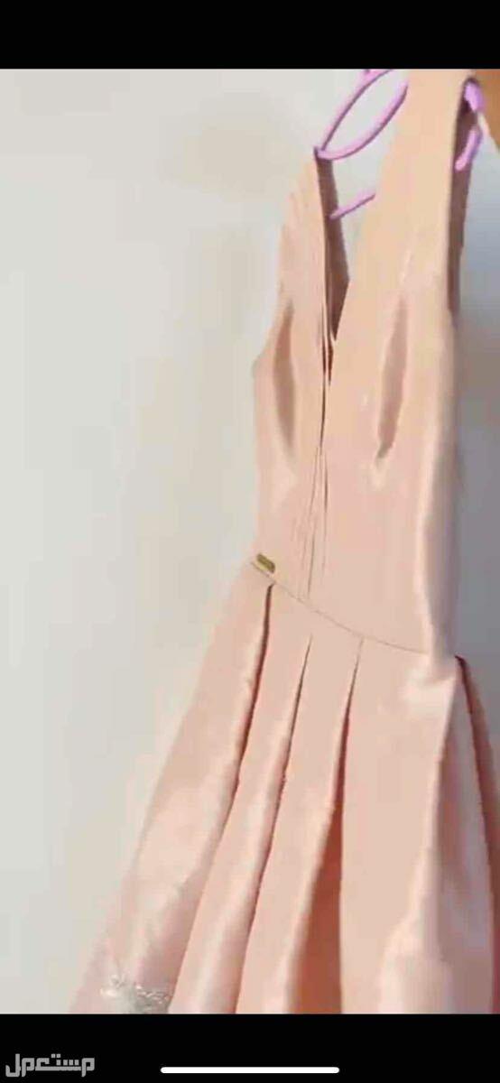 فستان مشمشي فاتح