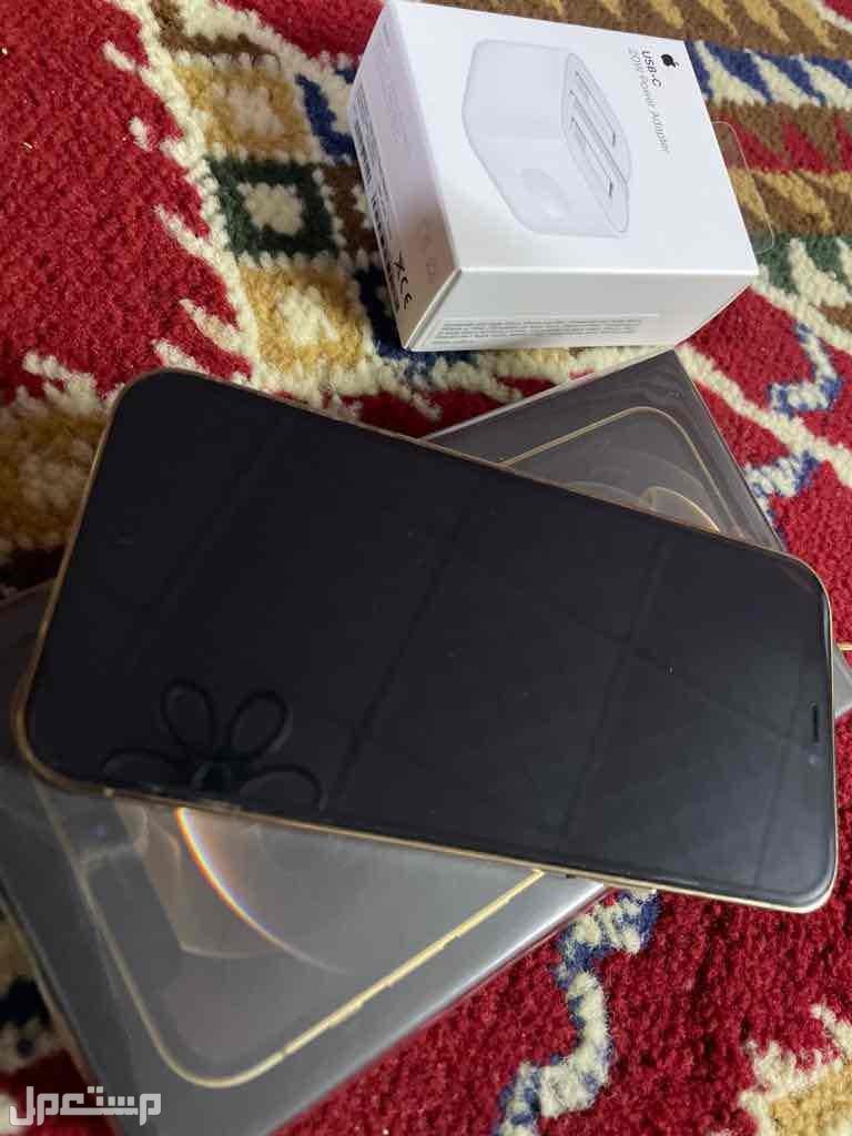 ايفون12برو 128GB ذهبي نضيف جداً
