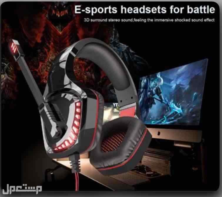 سماعات الألعاب OVLENG GT96 (USB 2х3.5 مم) أسود وأحمر PS4