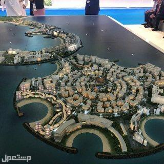 تملك الطبيعة البحرية على البحر مباشرة بعوائد استثمارية تصل الى 8% واكثر مجسم الجزيرة بالمشاريع السياحية