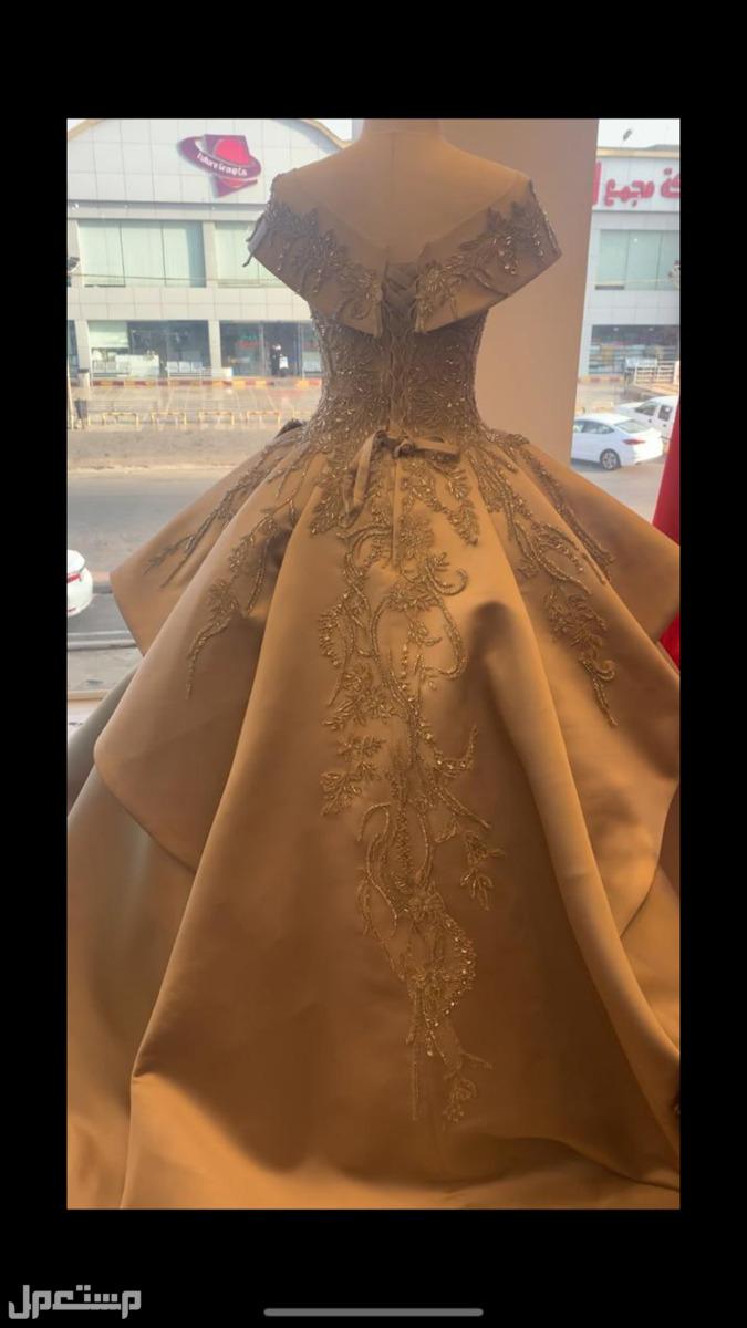 فستان ملكة للبيع  لون نحاسي المطلوب 850