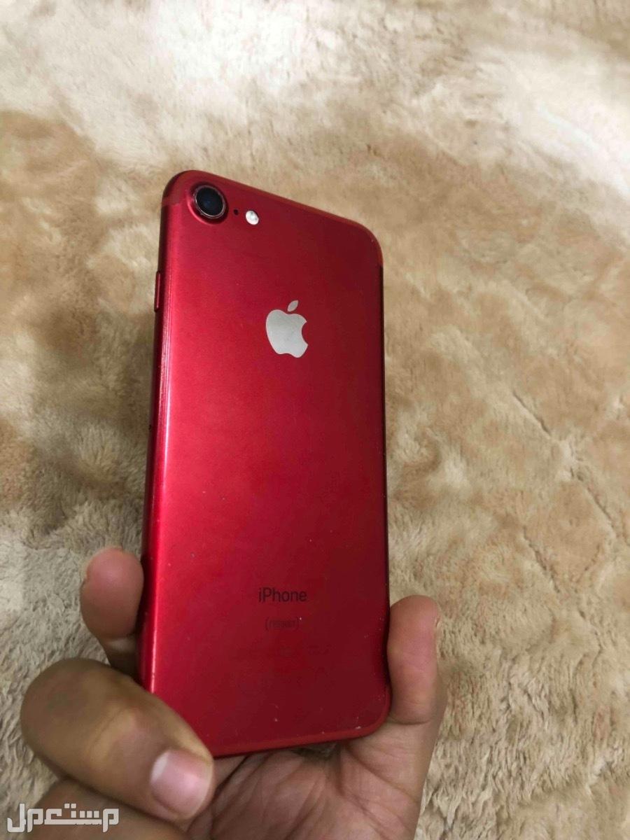 ايفون7 احمر نظيف 128 قيقا