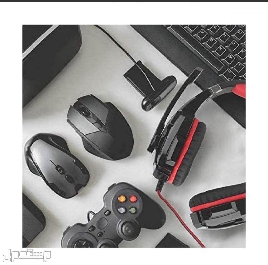 سماعة رأس للألعاب مع ميكروفون وإضاءة ليد، لجهاز اكس بوكس وبلاي ستيشن والكمب