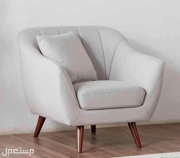 كنب - كرسي بذراعين رمادي ( آيفي )