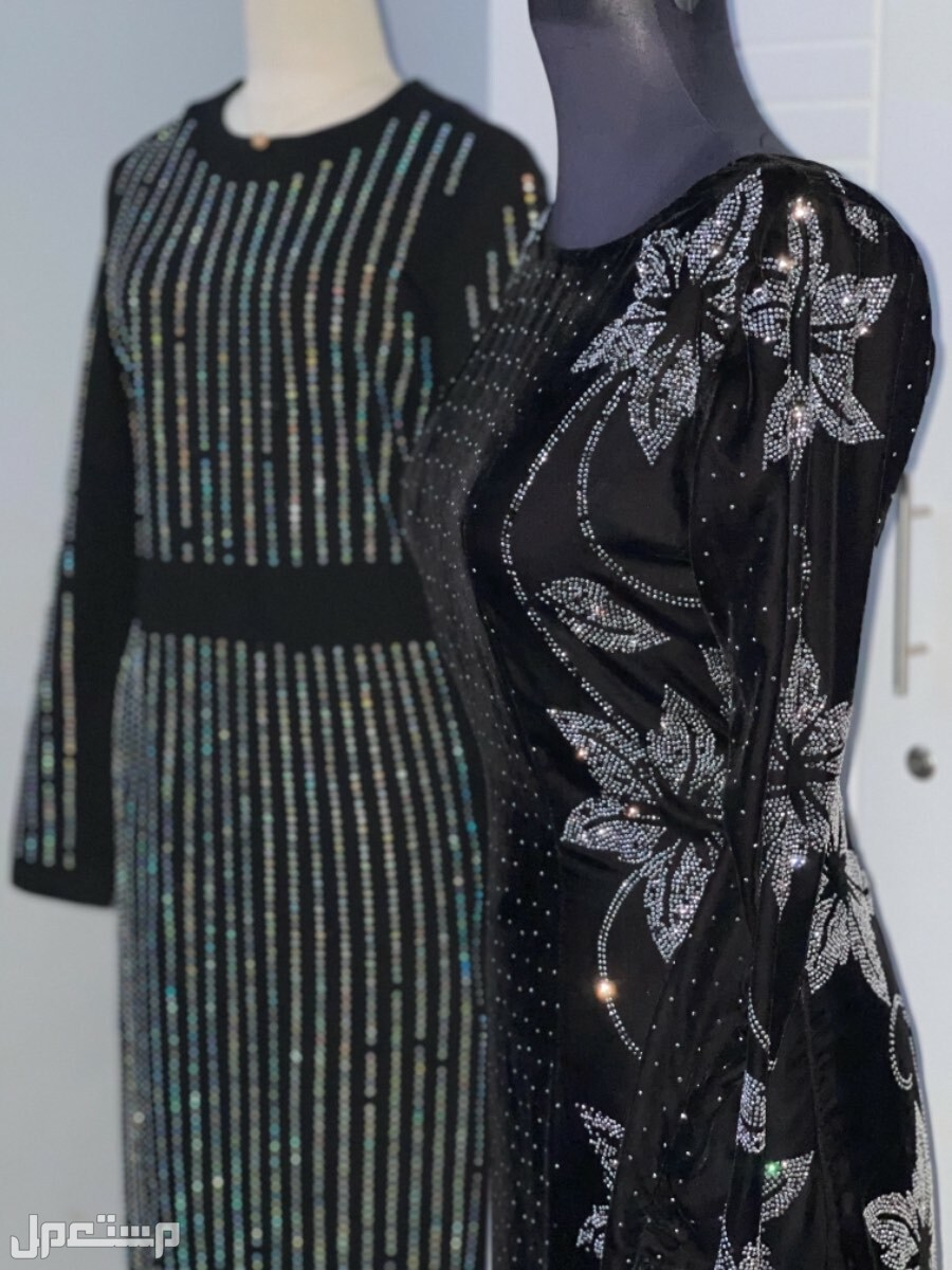 الاحساء /المبرز /الحزم الشمالي للايجار فستان سهرة مخملي خفيف  أسود لبسه اولى