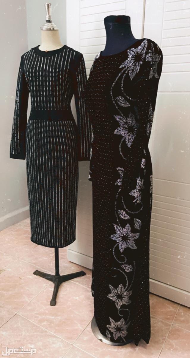 الاحساء /المبرز /الحزم الشمالي للايجار فستان سهرة مخملي خفيف  أسود لبسه اولى طويل