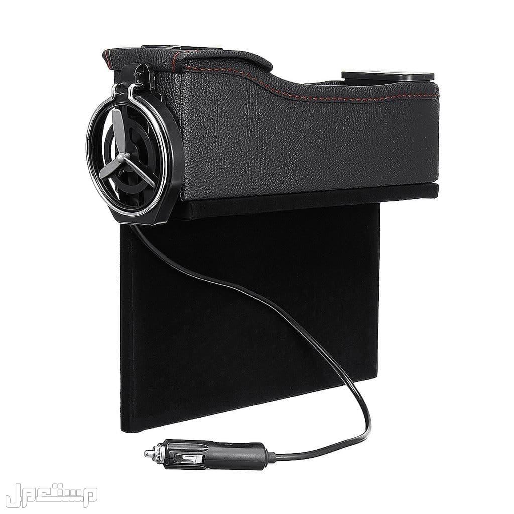 حامل أغراض السيارة الفخم مصنوع من الجلد لسيارة أكثر اناقة مع 2 USB للشحن