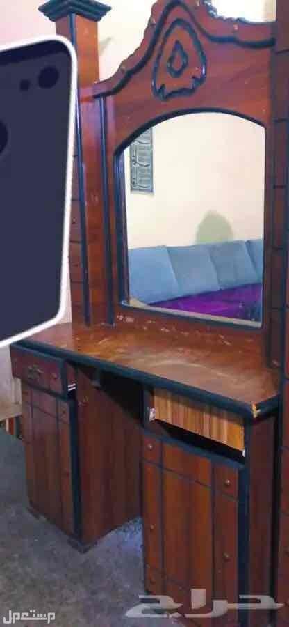 غرفة نوم كامله سرير - دولاب - دولاب بمرايه- تسريحه- كومدينتين