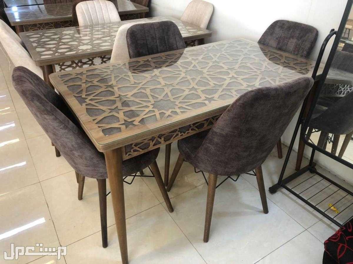 طاولات طعام خشب صناعة تركية
