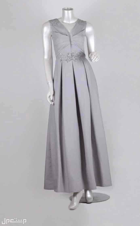 فستان لون رصاصي مقاس M