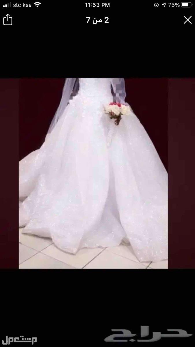 فستان عروس فستان زواج مع مسكته فقط 700