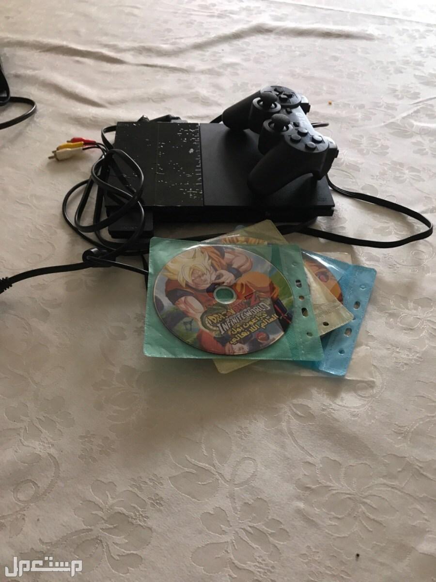جهاز بلايستيشن 2 مع 6 اشرطة دراغون بول ب500 ريال والبيع فوري