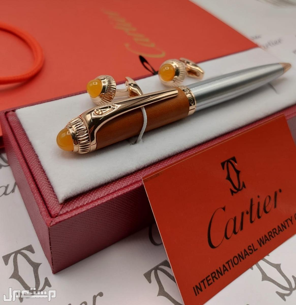 اطقم قلم مع الكبك ماركة Cartier