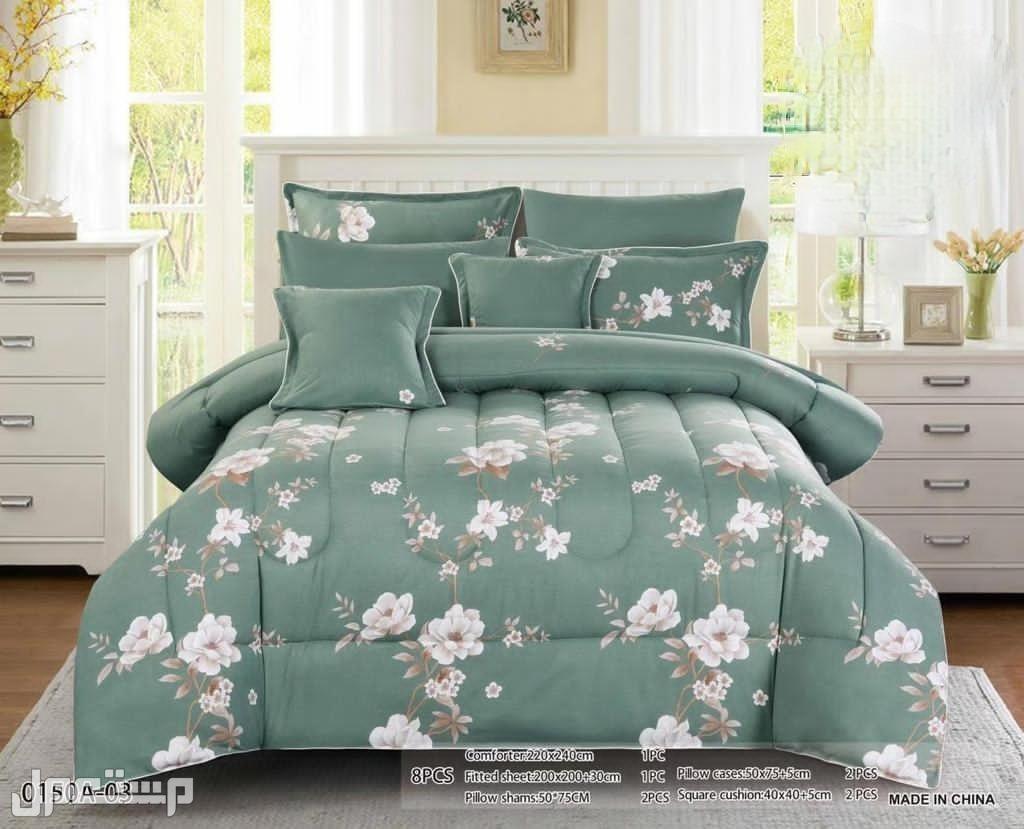 مفرش سرير 8 قطع دانتال نفرين راقي جدا مصنوع من افضل انواع الخيوط القطنية ال