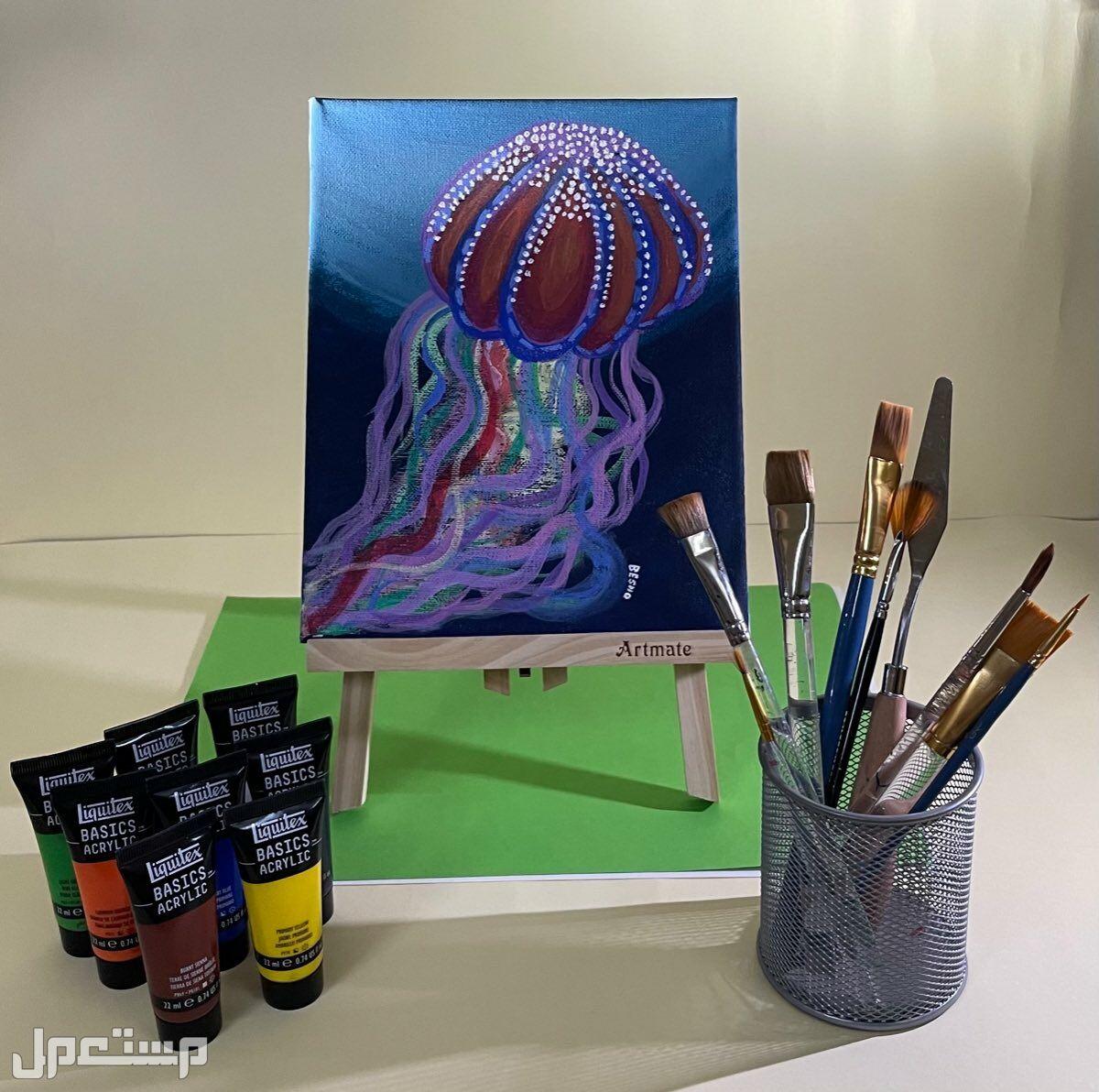 لوحة مرسومة بألوان الأكريليك 🎨