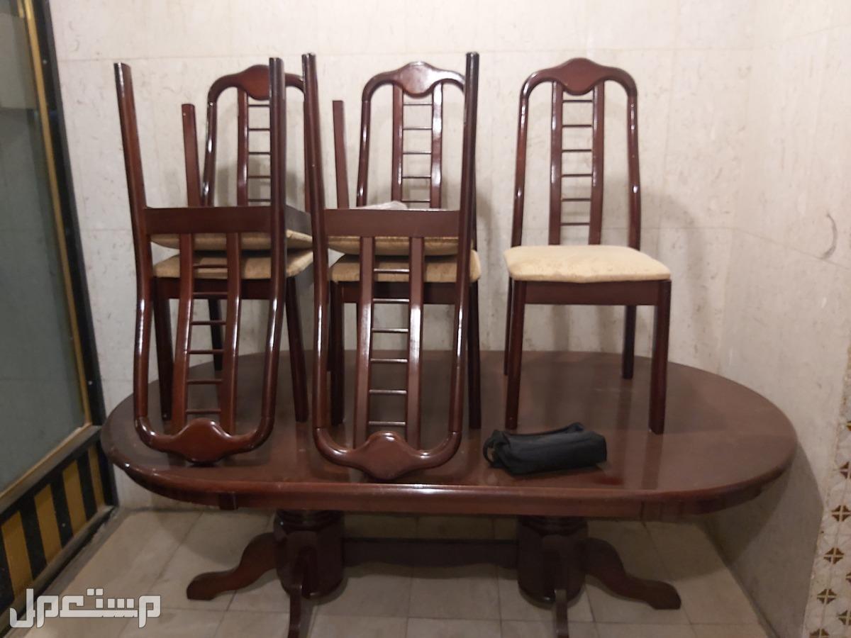 طاولة طعام خشبية و أنيقة 6 كراسي