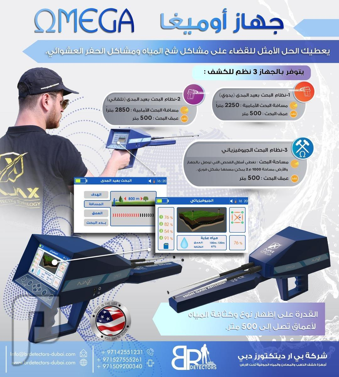 اجهزة الكشف عن المياه الجوفية والابار - اوميغا OMEGA اجهزة الكشف عن المياه الجوفية والابار اوميغا OMEGA