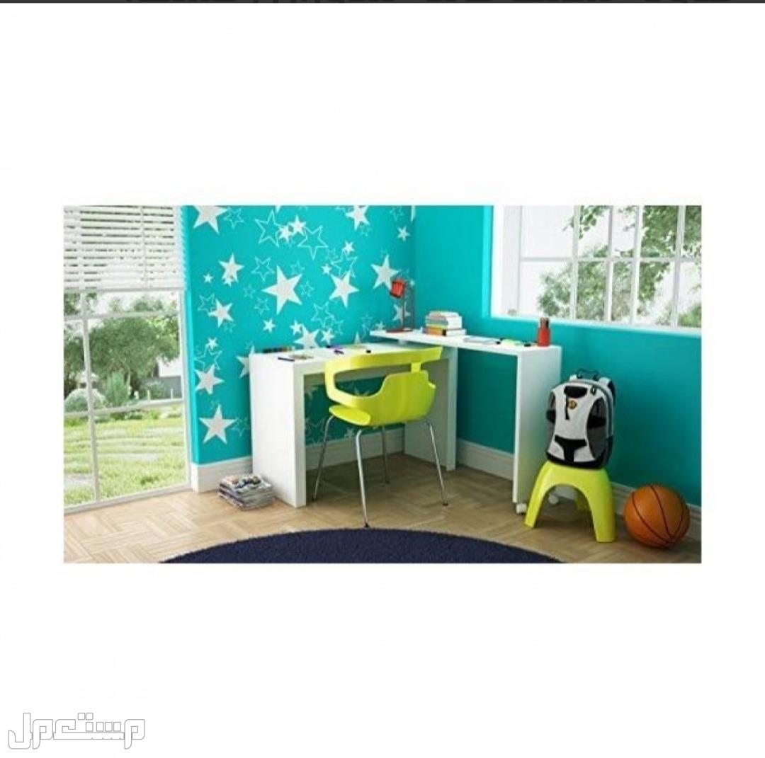 طاولة مكتب قابلة للدوران , خشب، ابيض