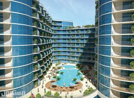منتجع المهرة يضمن لك عوائد استثمارية مضمونة بالاستثمار الفندقي اطلالات الوحدات الداخلية على المسبح والبحر