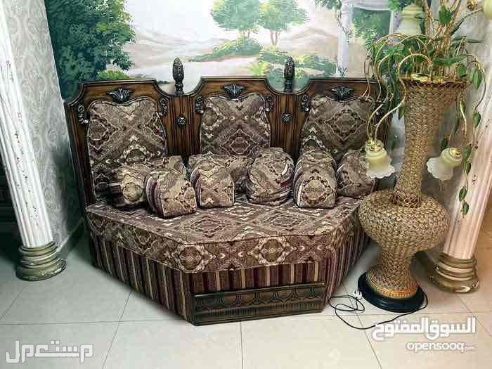 طقم كراسي خشب مصري  ل 9 اشخاص
