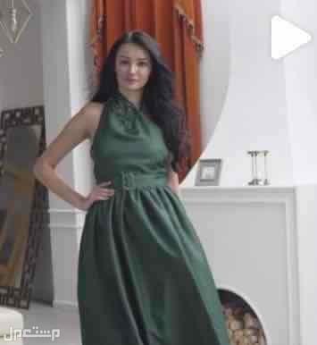فستان مقاس سمول زيتي على المودل