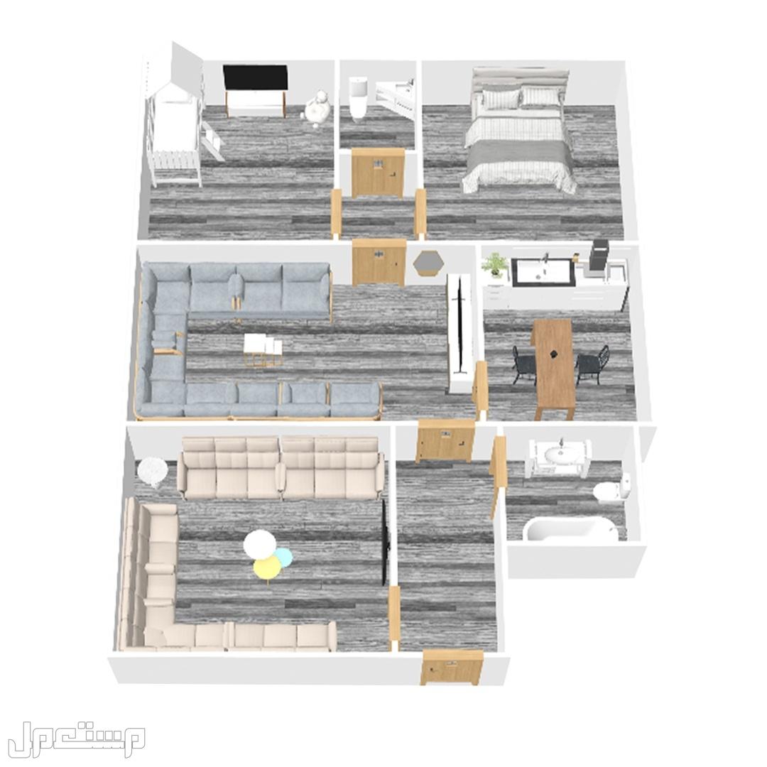 شقة 3 غرف جديدة للتمليك بمدينة جدة