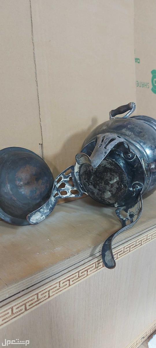 سماور فحم تحفة تراثية نادرة من الاسفل