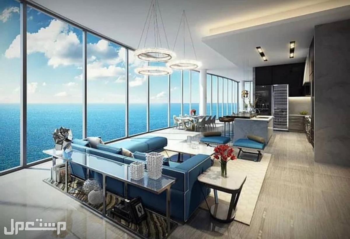 عائد استثماري سنوي مضمون بمنتجع المهرة الفندقي اطلالة المطاعم العالمية على البحر والاستمتاع بالاطلالة