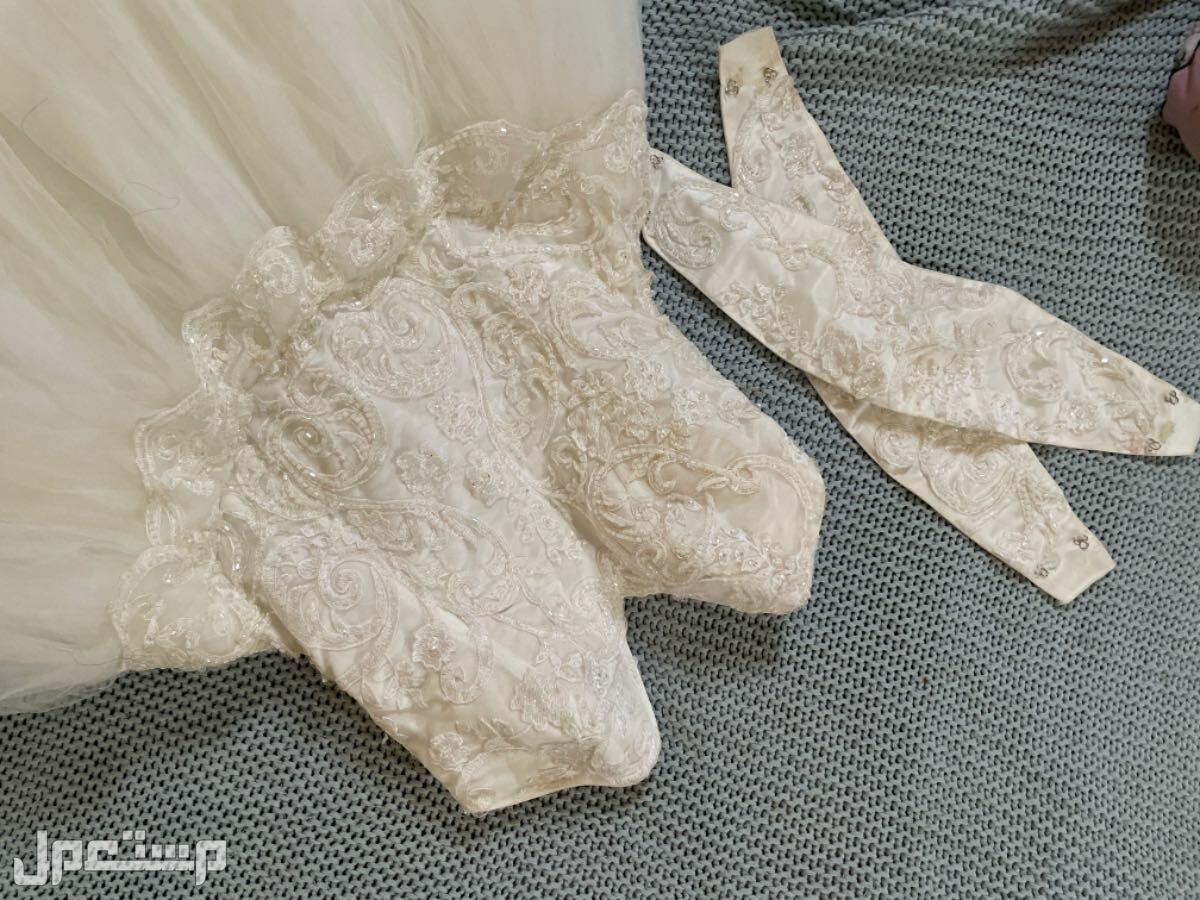 فستان زفاف معه اكمام اذا مابغيتوه على الصدر ويصير علاقي