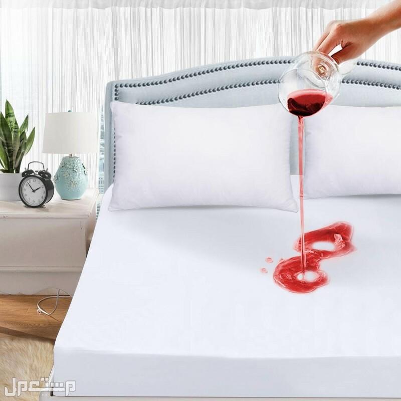 مفرش سرير ضد البلل مصنوع من المايكرو فايبر العازل للمياة