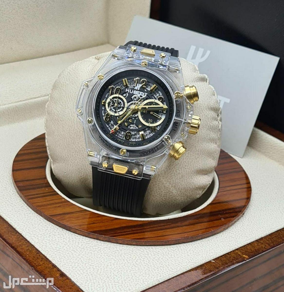 ساعة هوبلت شفافة شكل ملكي فاخر