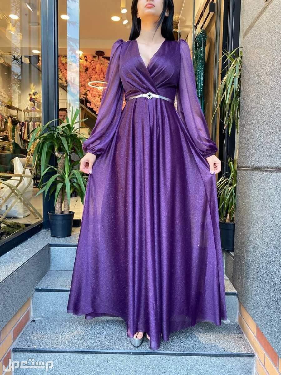 💥جديد 💥 اقوى موديلات السهره  صناعة تركي 💯 فستان ناعم وانيق جدا الالوان :